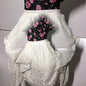 Runway white Summer Style Cute Skirt